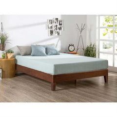 Full size Low Profile Solid Wood Platform Bed Frame in Espresso Finish