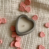 Heart shaped mini candle
