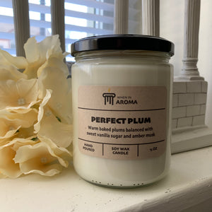 Perfect Plum 15 oz soy candle