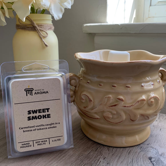 Sweet smoke clamshell soy wax melts