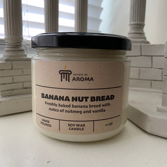 11 oz Banana Nut Bread Soy Candle