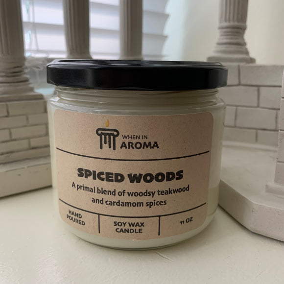 11 oz Spiced Woods Soy Candle