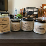 Various sizes of Butterbeer Soy Candles