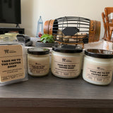 Various sizes of Coffee Shop Soy Candles