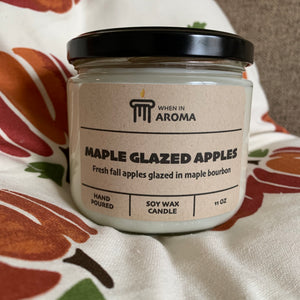 Maple Glazed Apples Soy Wax Candle 11 oz