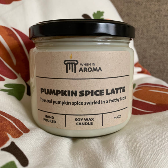 Pumpkin Spice Latte Soy Candle 11 oz