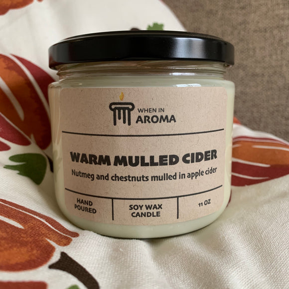 Warm Mulled Cider soy wax candle 11 oz