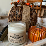 Fall soy candle