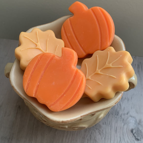 Pumpkin and leaves wax melts