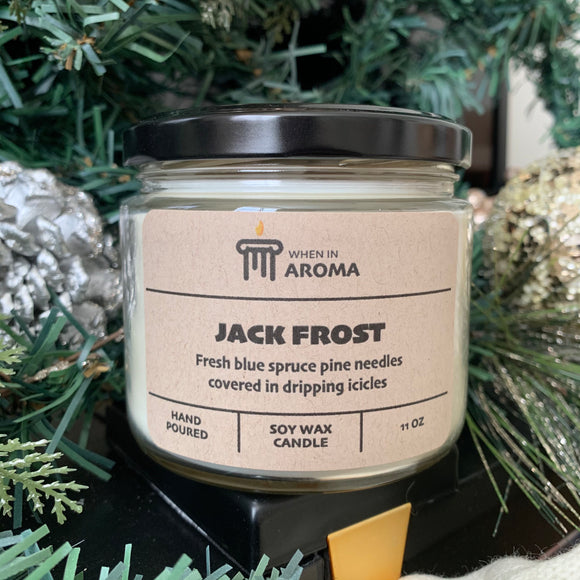 Jack Frost 11 oz soy candle