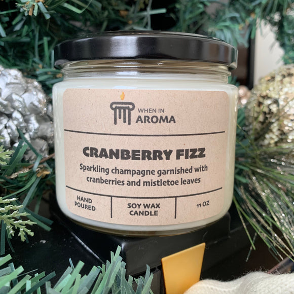 Cranberry Fizz 11 oz soy candle