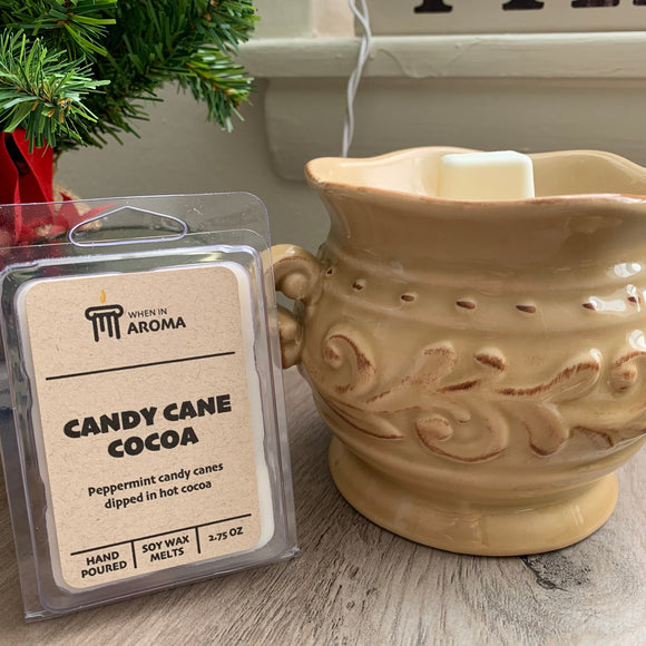 Candy Cane Cocoa soy wax melt