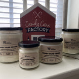 Various sizes of Candy Cane Cocoa candles