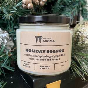 Holiday eggnog 11 oz candle