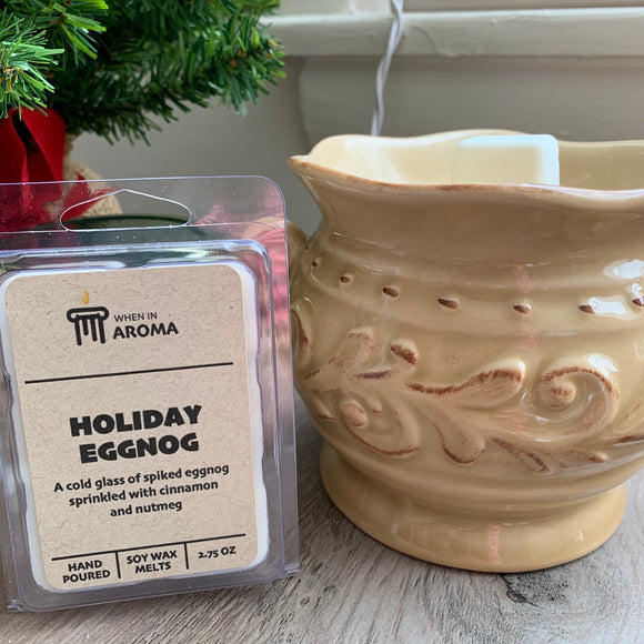 Holiday eggnog soy wax melts