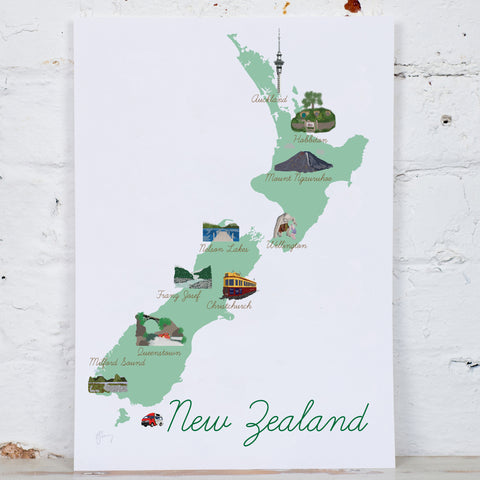 Bespoke Personalised County/Country Map Illustration Art Print