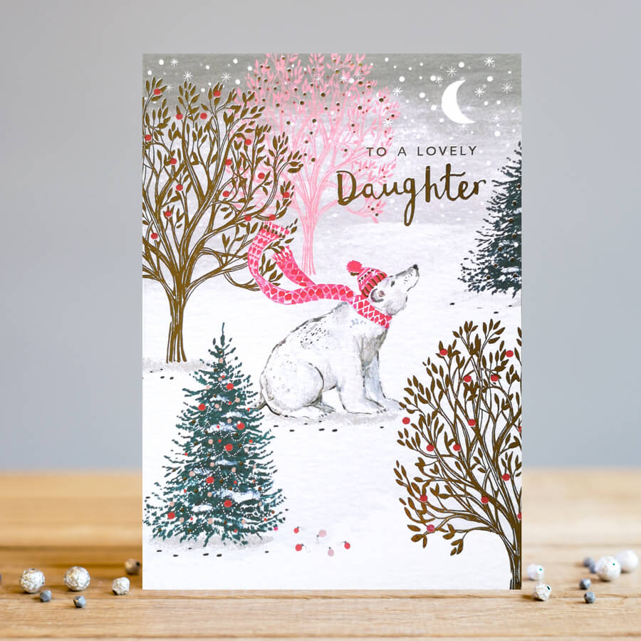 Polar Bear Daughter Christmas Card