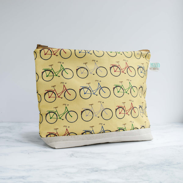 Yellow Bike Wash Bag - Yellowstone Art Boutique