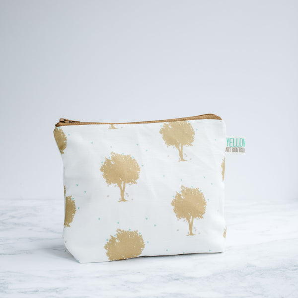 Gold Trees Wash Bag - Yellowstone Art Boutique