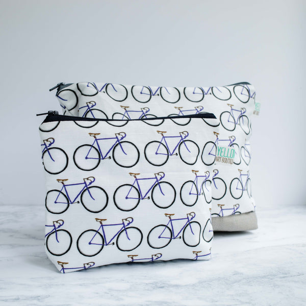 Blue Bikes Wash Bag - Yellowstone Art Boutique