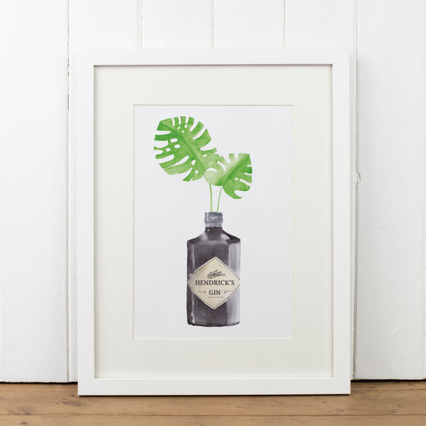 Hendricks Gin Bottle Art Print - Yellowstone Art Boutique