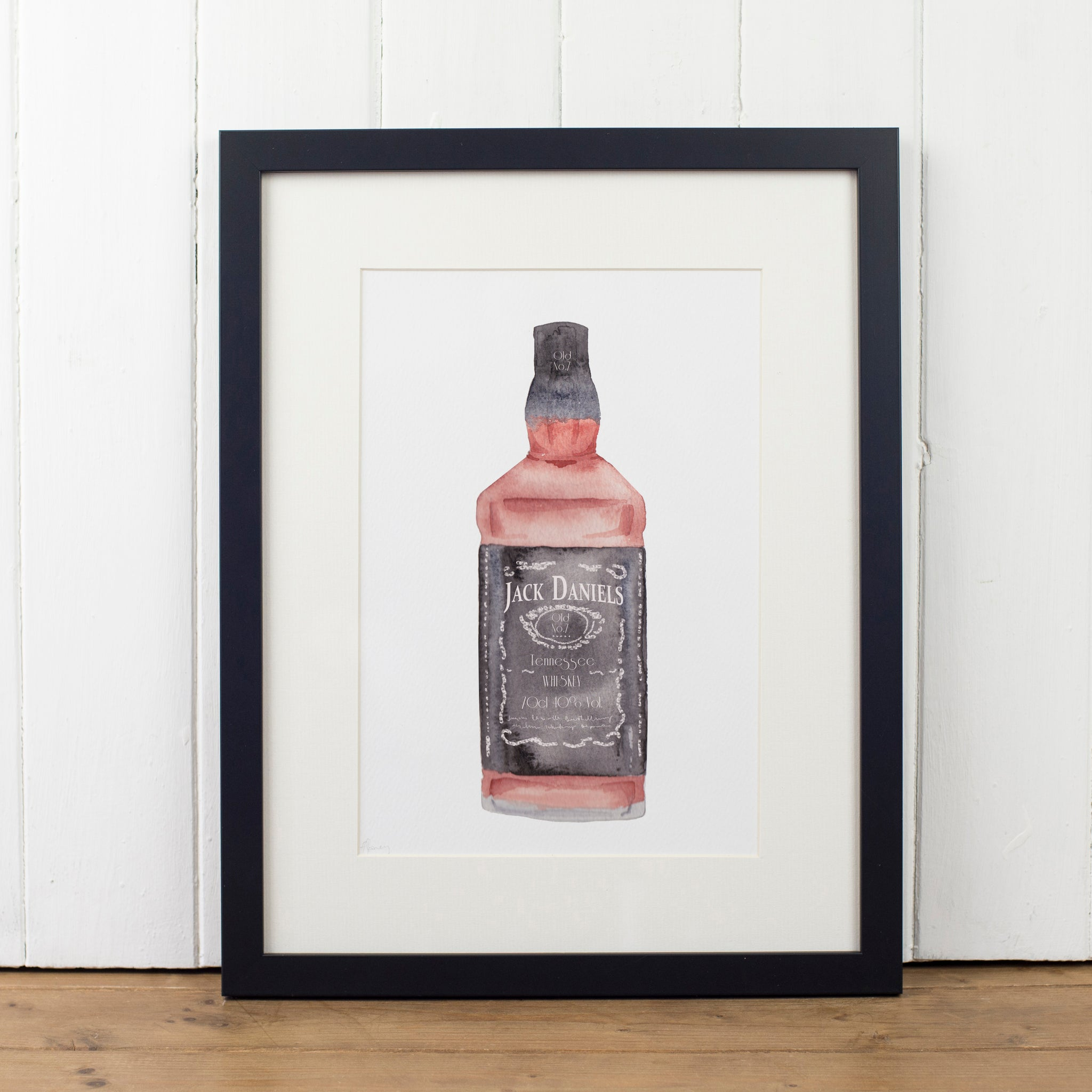 Jack Daniels Whisky Bottle Art Print - Yellowstone Art Boutique