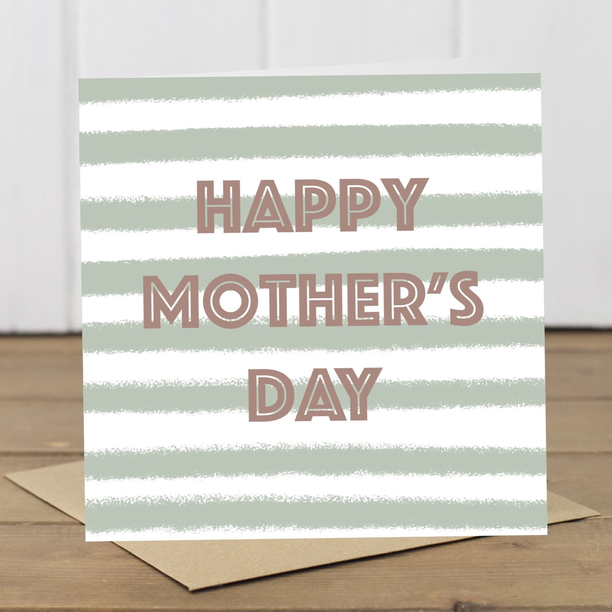 Simple Stripes Mother's Day Card