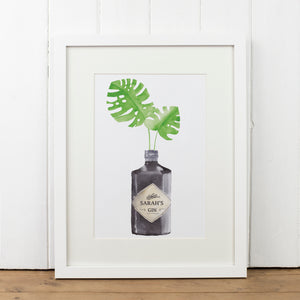 Personalised Hendricks Gin Bottle Art Print - Yellowstone Art Boutique