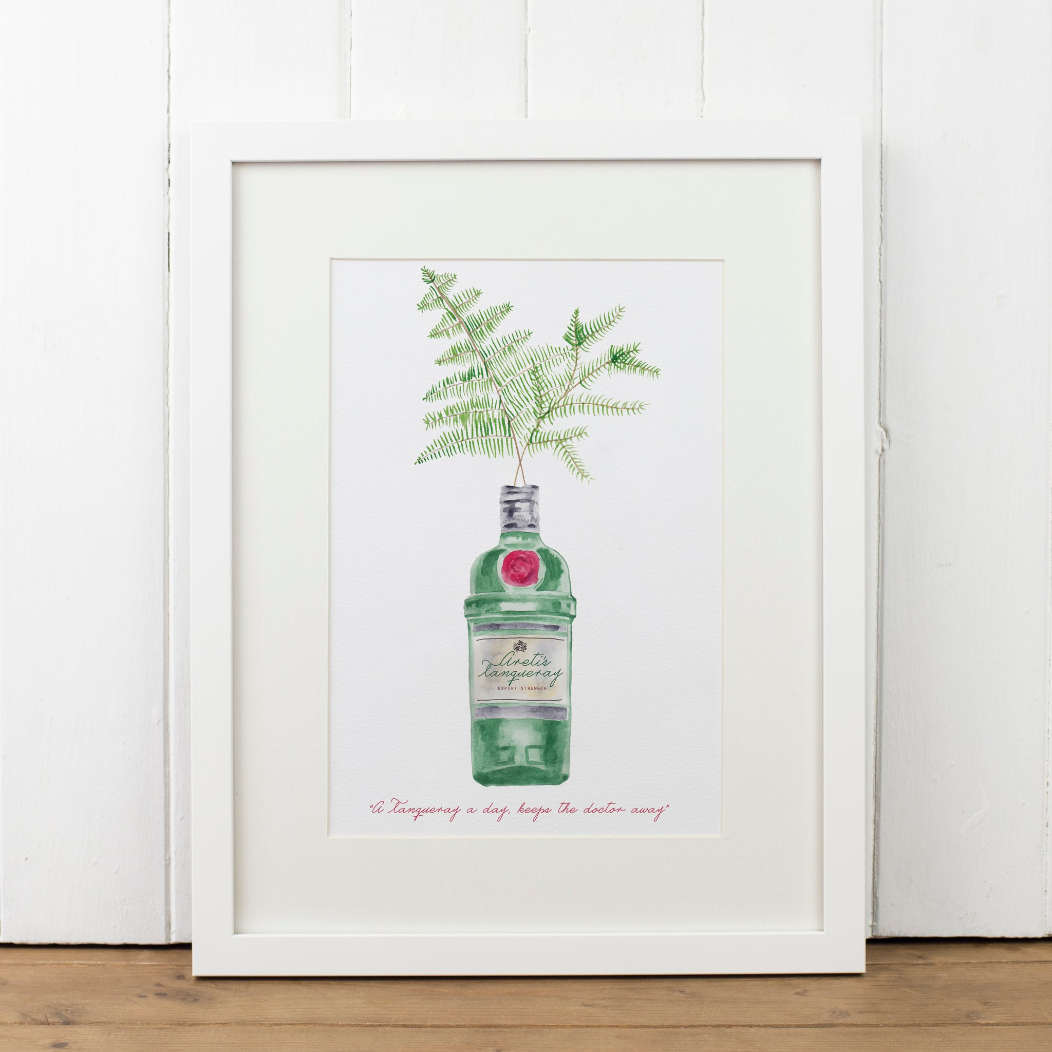 Personalised Tanqueray Gin Bottle Art Print - Yellowstone Art Boutique