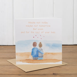 Postponed Wedding Beach Card - Yellowstone Art Boutique
