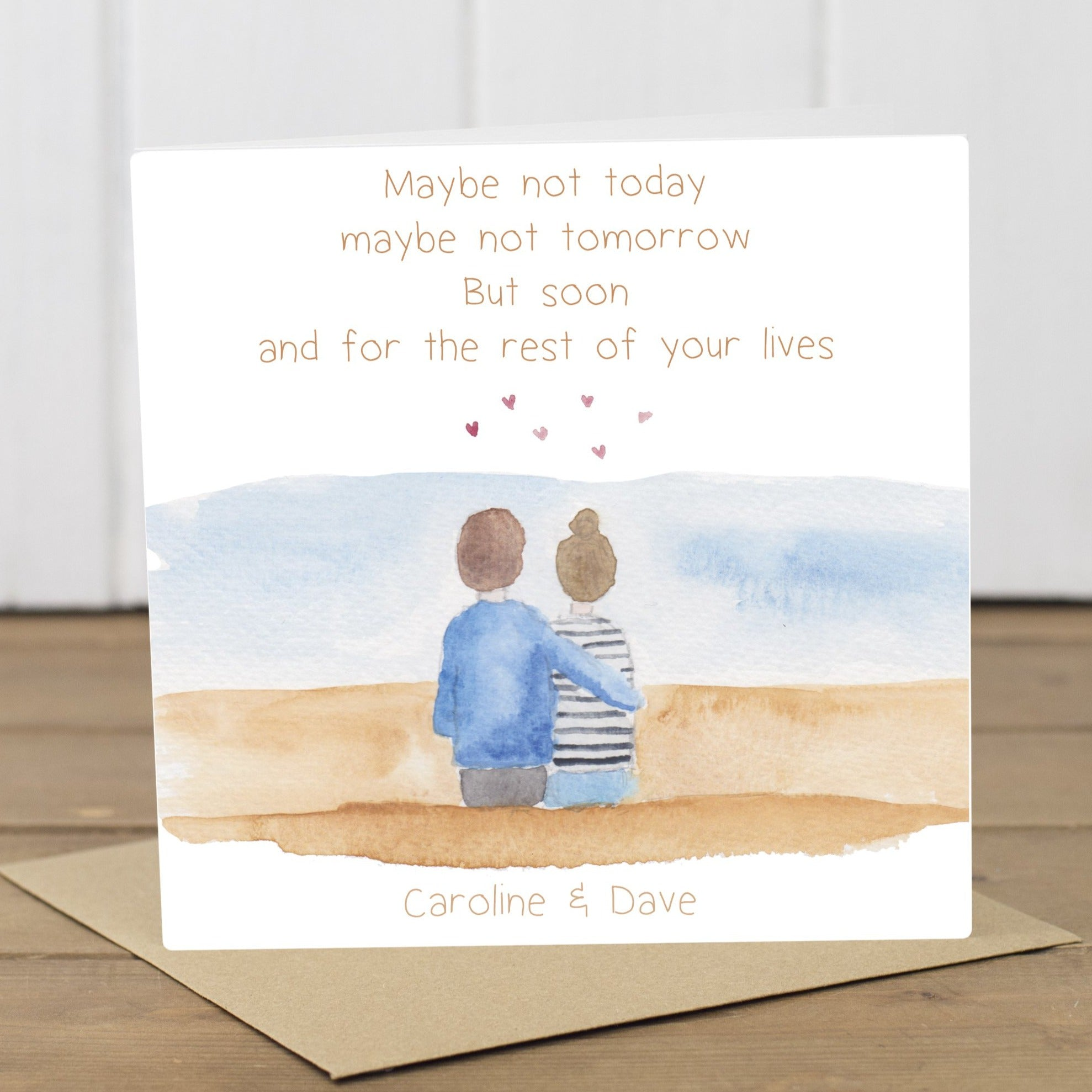 Personalised Postponed Wedding Day Card - Yellowstone Art Boutique