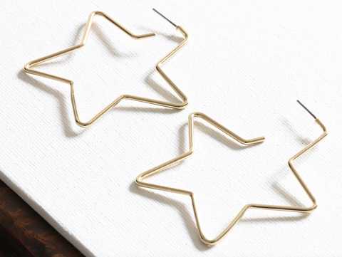 Hermione Gold Star Earrings