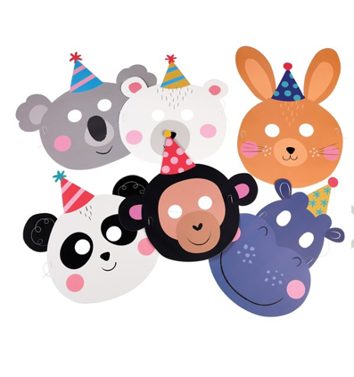 Party Animal Face Masks (Set of 6)