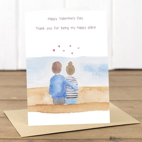 Happy Place Beach Valentine's Card