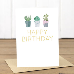 Birthday Succulents Card - Yellowstone Art Boutique