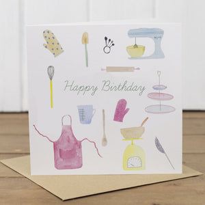 Baking Happy Birthday Card - Yellowstone Art Boutique