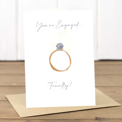 Finally Engaged Engagement Ring Card - Yellowstone Art Boutique