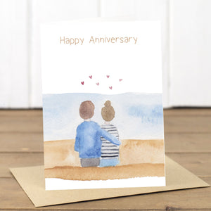 Happy Anniversary Beach Card - Yellowstone Art Boutique