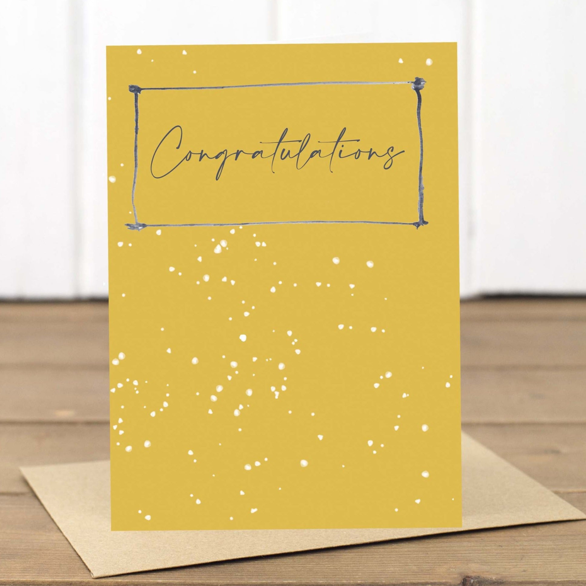 Yellow Congratulations Card - Yellowstone Art Boutique