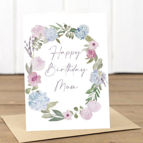 Mum Birthday Wreath Card - Yellowstone Art Boutique