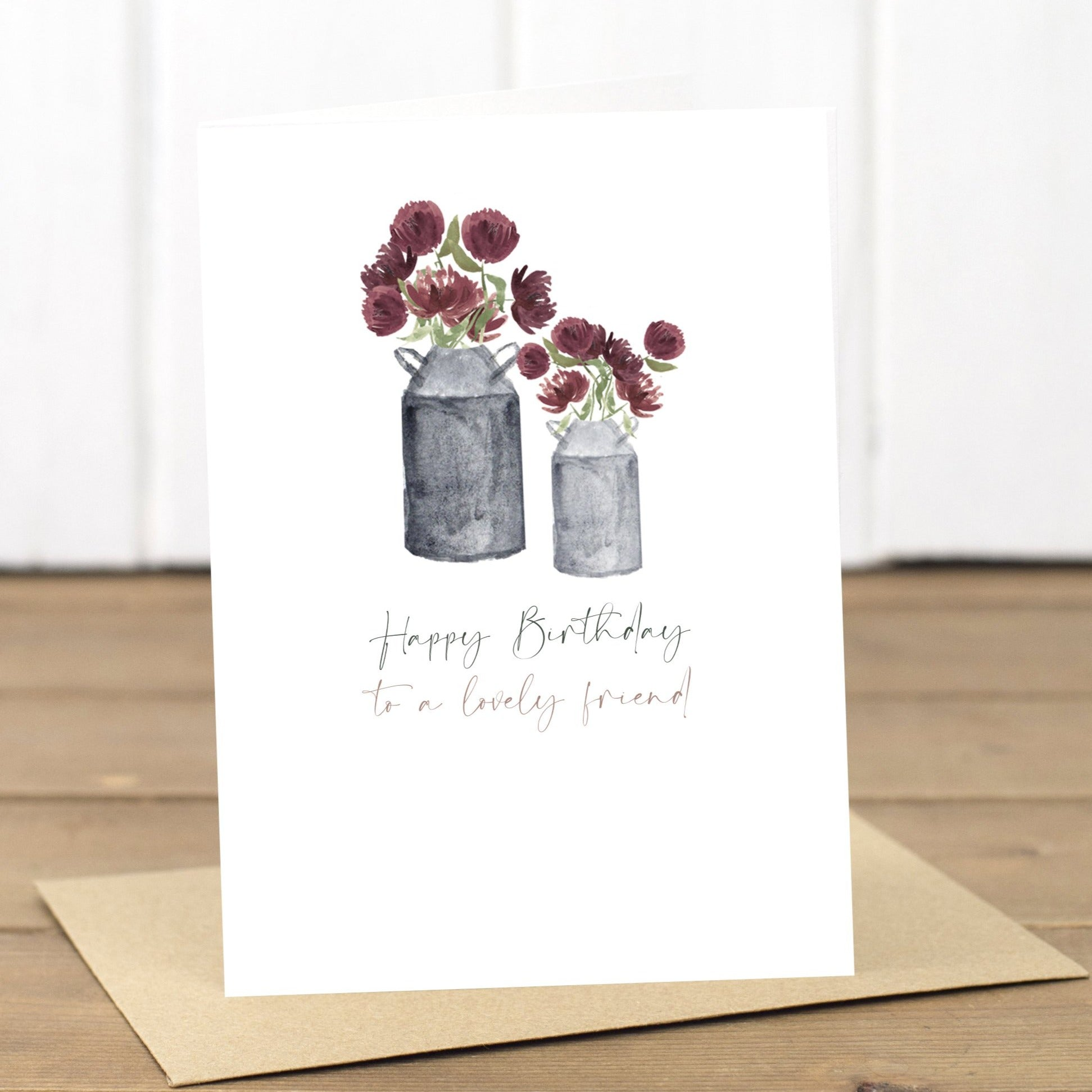 Birthday Milk Churns Card - Yellowstone Art Boutique