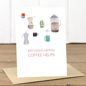 Coffee Birthday Card - Yellowstone Art Boutique