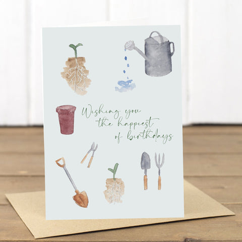 Gardening Birthday Card - Yellowstone Art Boutique