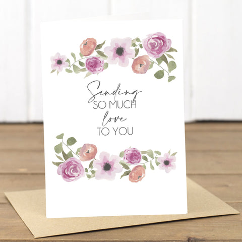 Sending Love Card - Yellowstone Art Boutique