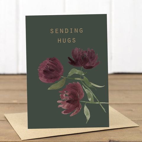 Sending Hugs Card - Yellowstone Art Boutique