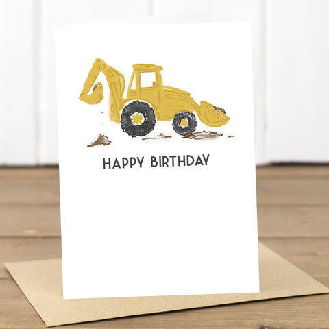 Happy Birthday Digger Card - Yellowstone Art Boutique