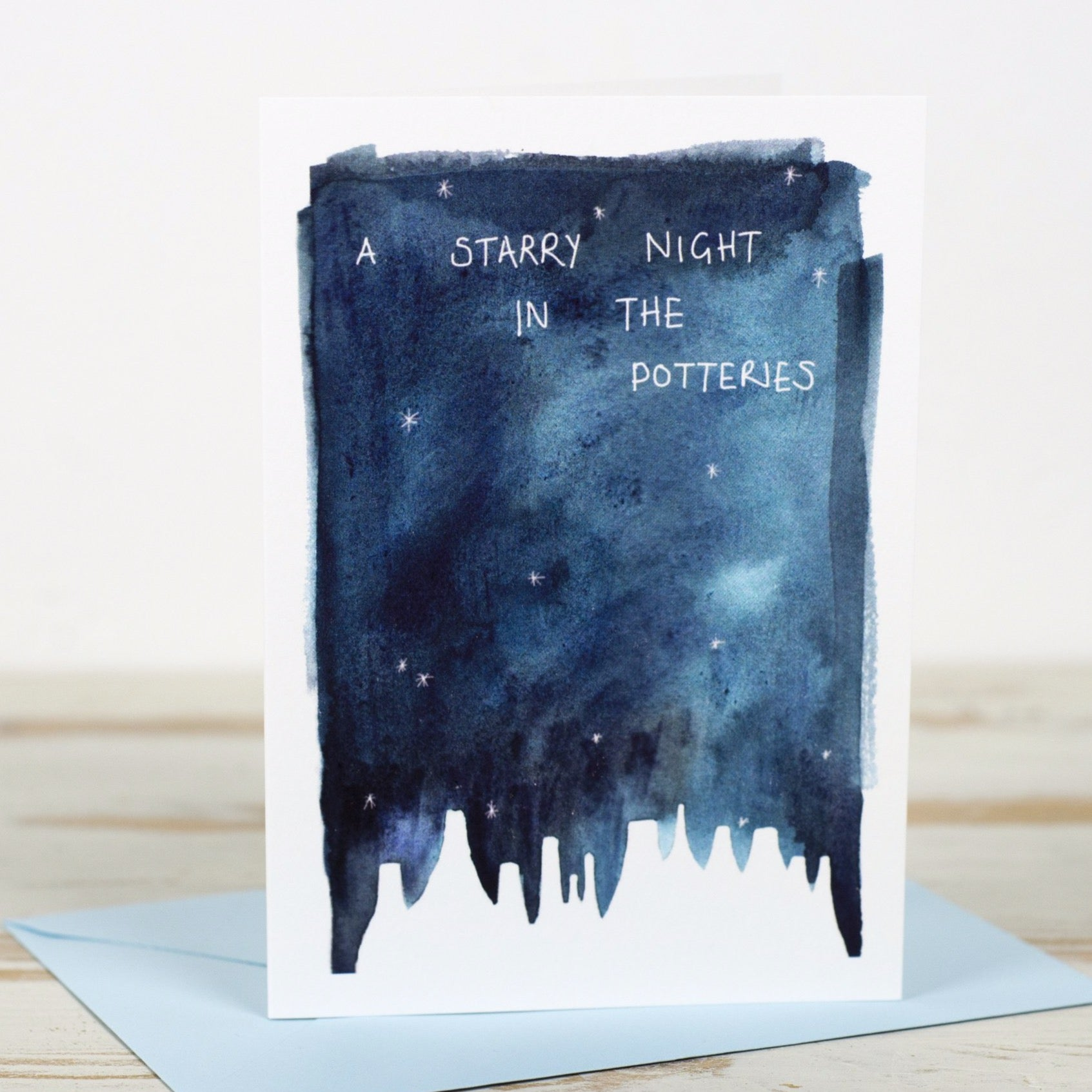 Starry Night in the Potteries Card - Yellowstone Art Boutique