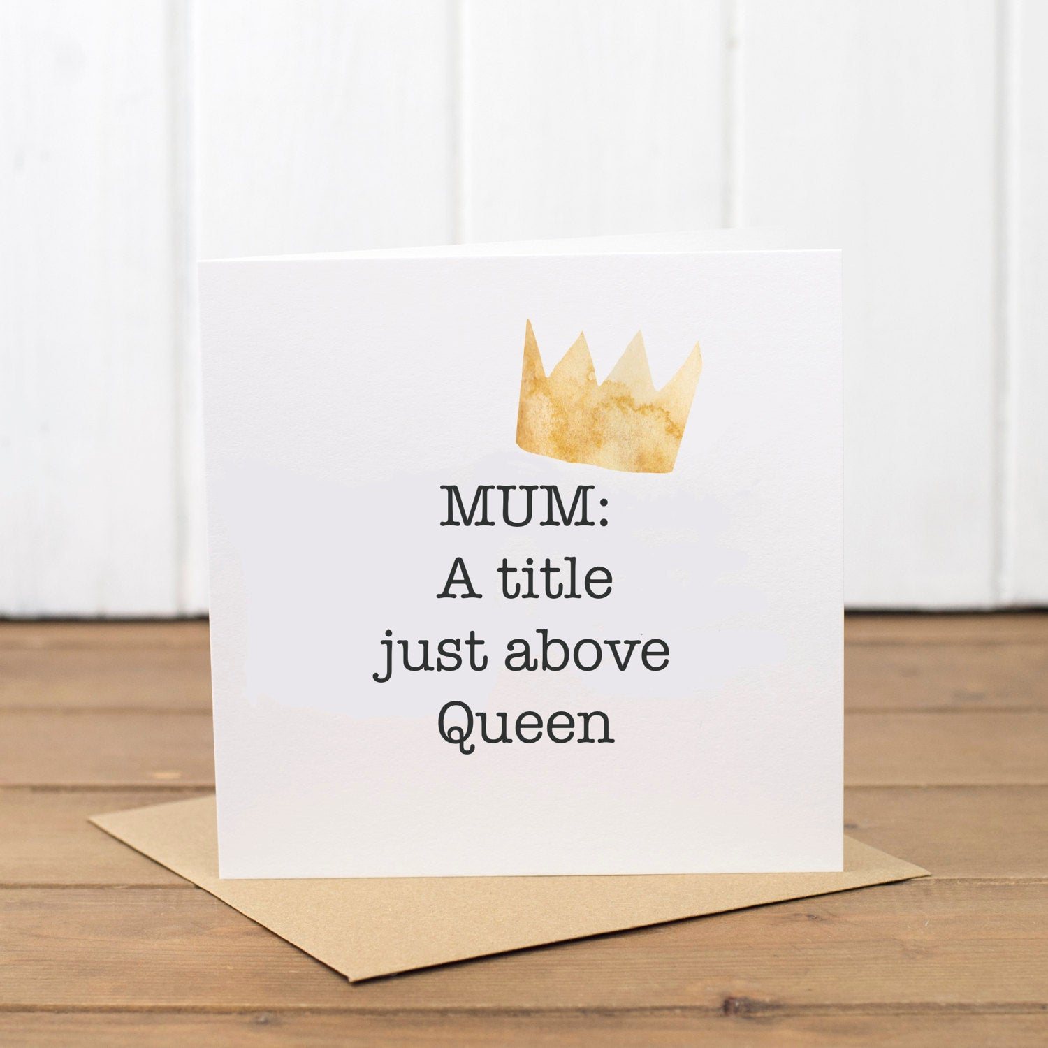 Queen Mum Birthday Card - Yellowstone Art Boutique