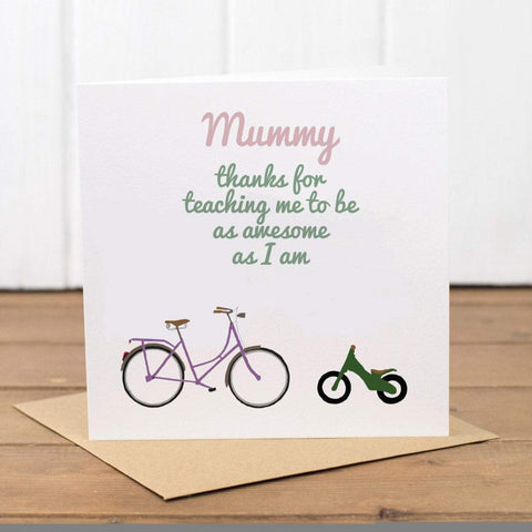 Mummy Bikes Birthday Card - Yellowstone Art Boutique