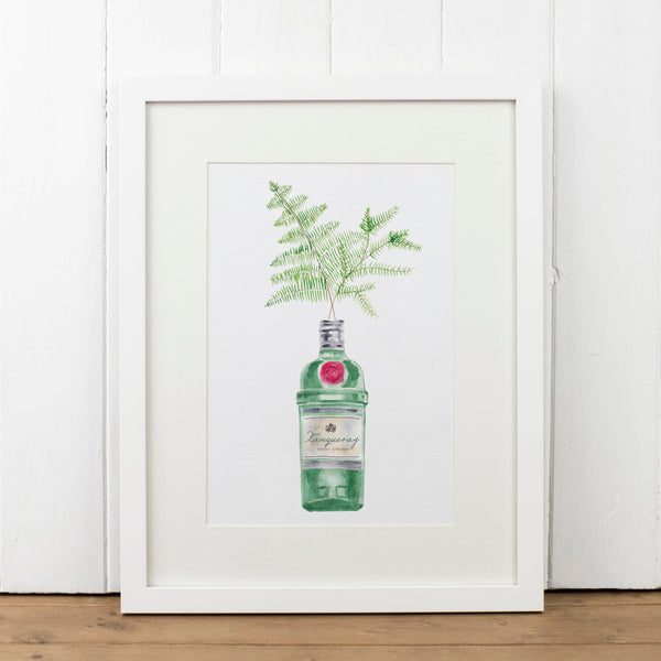 Tanqueray Gin Bottle Art Print - Yellowstone Art Boutique
